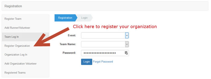 home page register